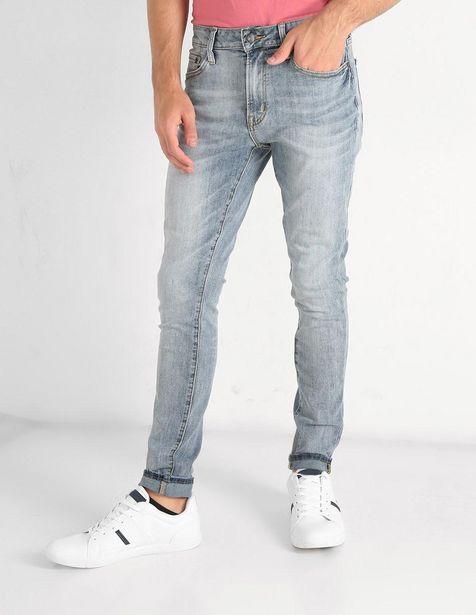 Oferta de Jeans Aéropostale corte skinny azul claro denim por $499.5