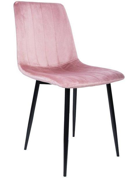 Oferta de Silla tipo Eames tapizada recta Just Home por $1799