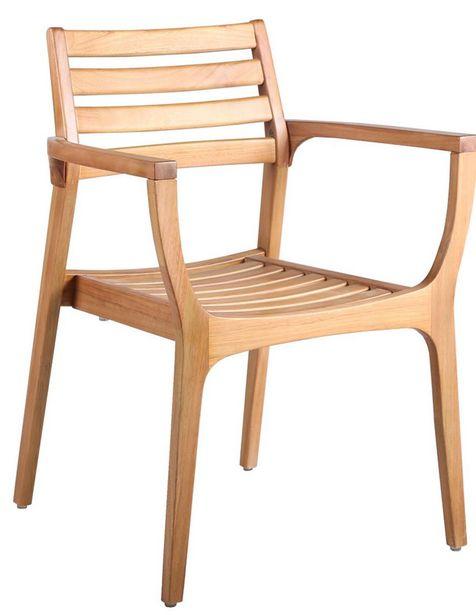 Oferta de Silla para jardín Top Sun Nairobi de madera beige por $4199.25