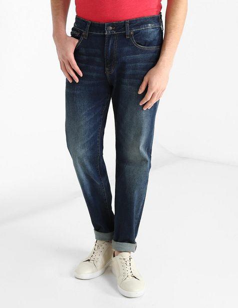Oferta de Jeans Aéropostale corte straight azul marino por $499.5