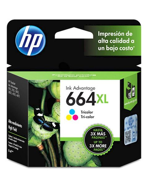 Oferta de Cartucho de Tinta Tricolor HP Ink Advantage 664XL por $709