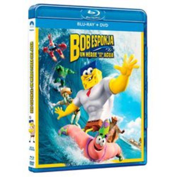Oferta de Bob Esponja: Un Héroe Fuera Del Agua Blu ray por $29