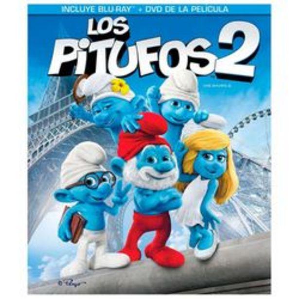 Oferta de Los Pitufos 2 Blu ray + DVD por $29
