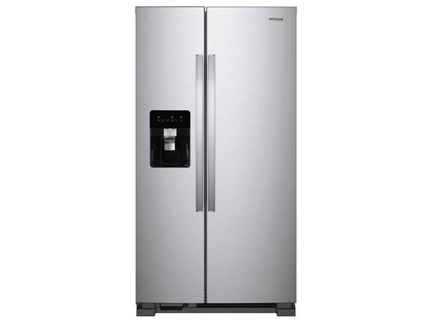 Oferta de Refrigerador Duplex Whirlpool 25 pies cúbicos gris WD5620S por $26699