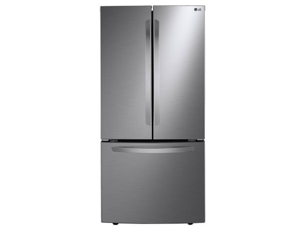 Oferta de Refrigerador LG 25 pies cúbicos color silver LM65BGSK por $17999