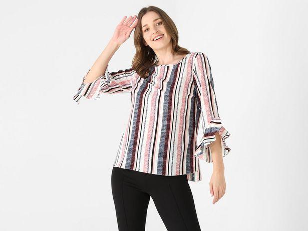 Oferta de Blusa La Mode a rayas manga ¾ por $149