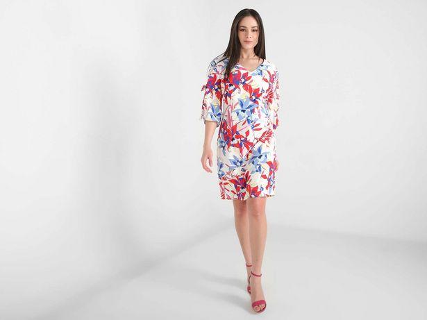 Oferta de Vestido Marie Claire con diseño floral abertura manga por $299