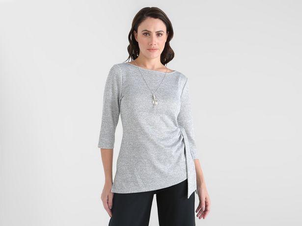 Oferta de Blusa La Mode jaspeada con lurex por $318