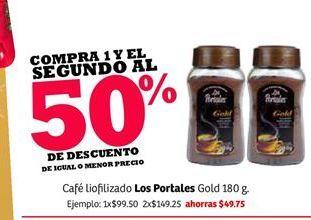 Oferta de Llevate el segundo al 50% de descuento café Los Portales por