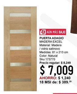 Oferta de Puerta de Madera Excel por $7009