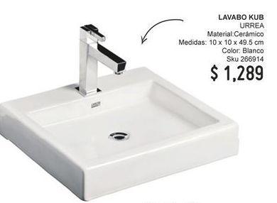 Oferta de Lavabo Kub Urrea por $1289