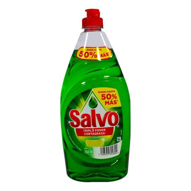 Oferta de Lavatraste Liquido Limon 750 ml Salvo por $39.9