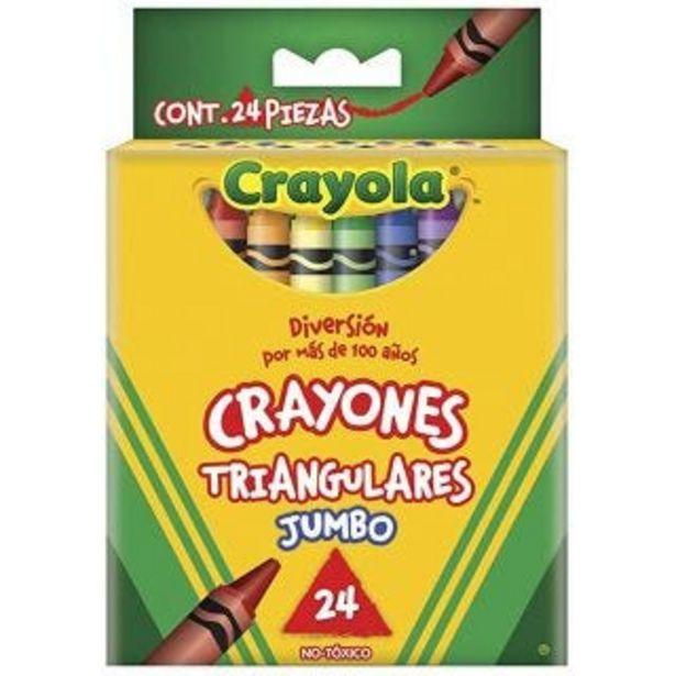 Oferta de Crayones c/24 triangulares Crayola por $74.5