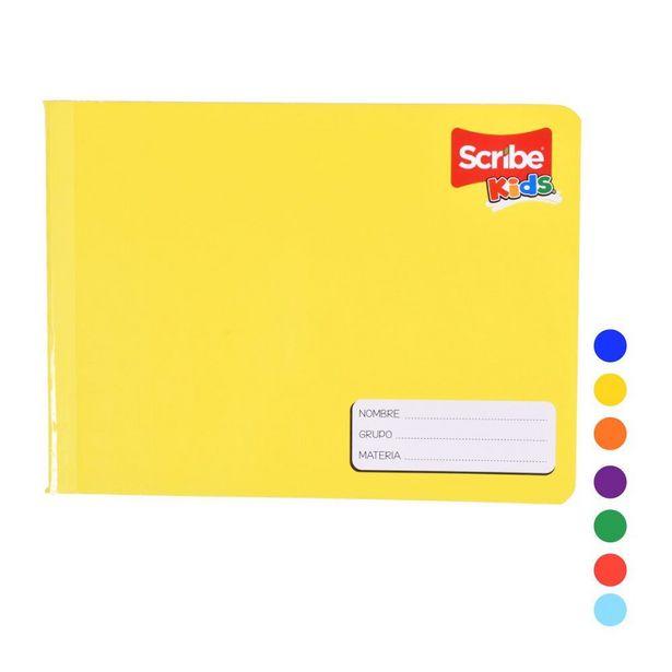 Oferta de Cuaderno Italiano Amarillo Cosido Raya 100 Hojas Kids por $34.5