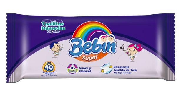 Oferta de Toallita Humeda C/40 Bebin Super por $10.9