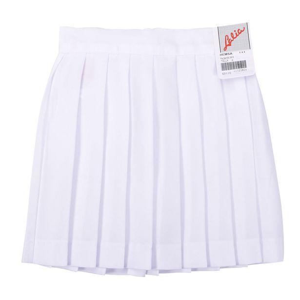 Oferta de Falda Escolar Blanca Plisada por $59.9