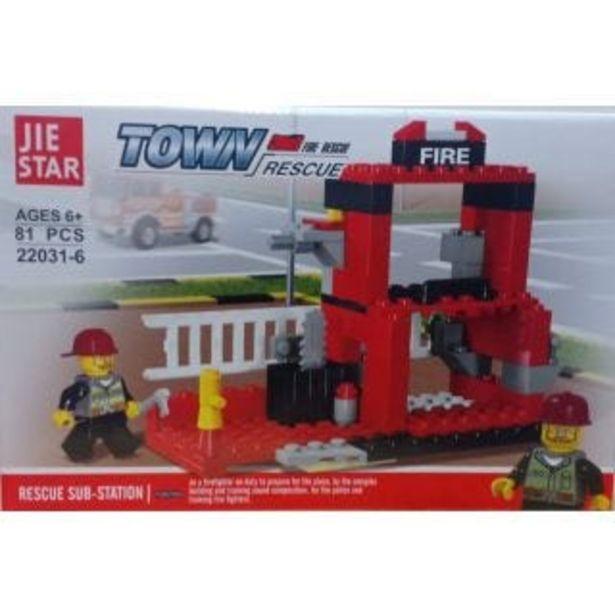 Oferta de Caja diferentes modelos Con Blocks Para Armar Fire Rescue Jie Star por $99