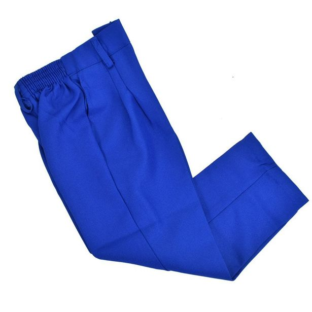 Oferta de Pantalón escolar boxer azul rey Tallas 8,10 y 12 por $109.9