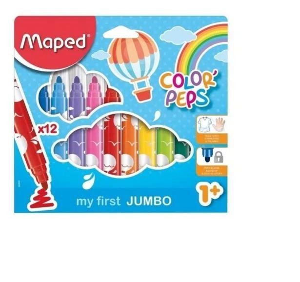 Oferta de Plumones C/12 Maxi Estuche Color Peps por $84.5
