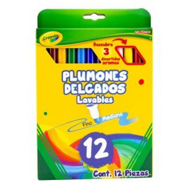 Oferta de Plumones C/12 Lavables Delgado Crayola por $66.5