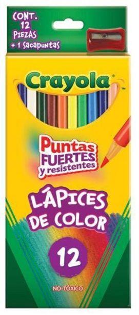 Oferta de Colores C/12 largos sacapuntas crayola por $63.5