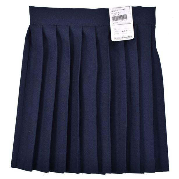 Oferta de Falda Escolar Azul Marino por $64.9
