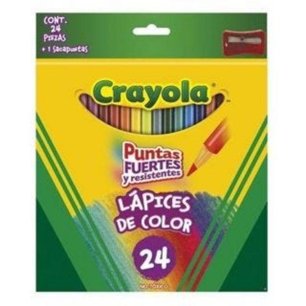 Oferta de Colores con Sacapuntas Crayola Largos C/24 por $124.5