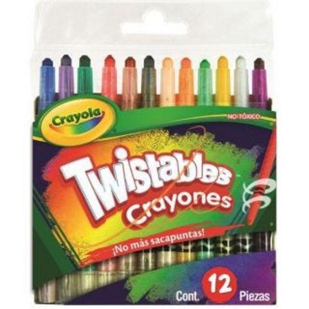 Oferta de Crayones c/12 mini twistables crayola por $59.9
