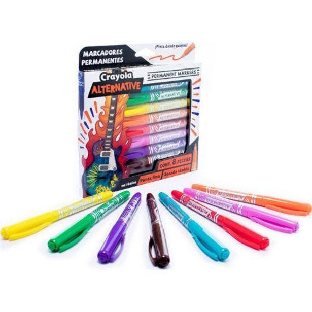 Oferta de Marcador Permanente C/8 Surt Alternative Crayola por $127.5