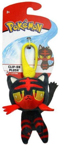 Oferta de Figura Clip-On Plush Pokemon Litten por $125.4