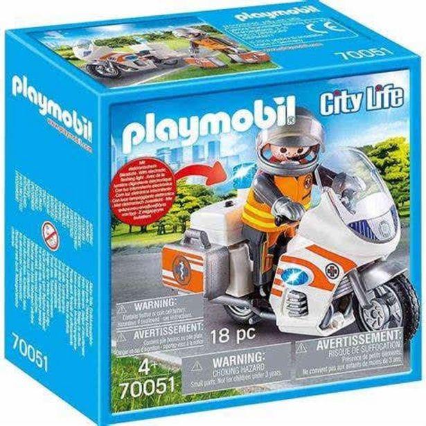 Oferta de Playmobil 70051 Moto De Emergencias por $335.3
