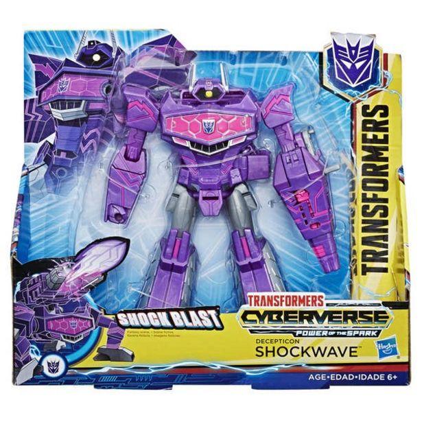 Oferta de Transformers E1909 Figura Cyberverse Ultra Action Attackers Shockwave por $247.6