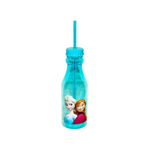 Oferta de Botella Con Popote 500ml Frozen por $59