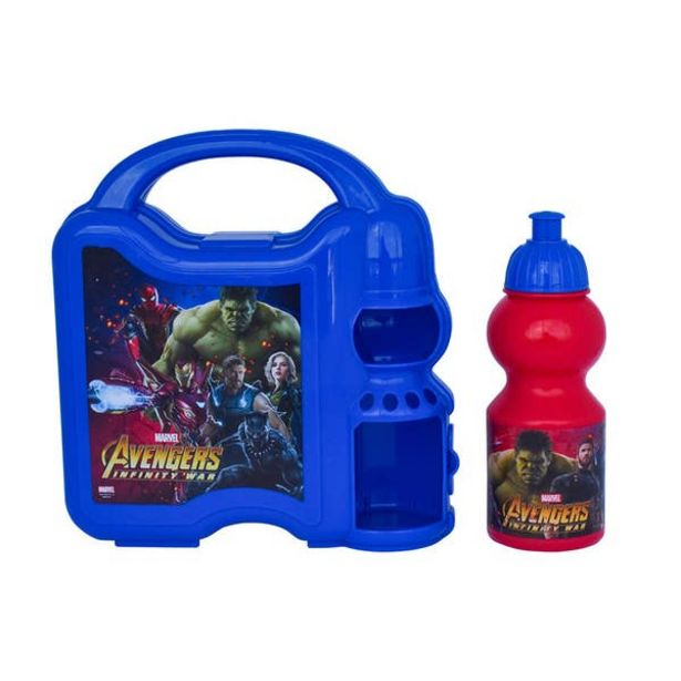 Oferta de Lonchera Con Botella Avengers Infinity War por $159