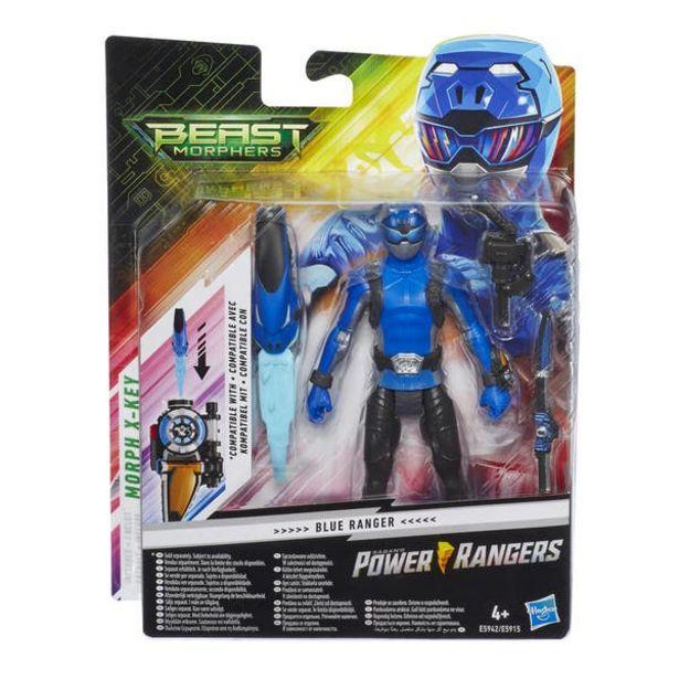 Oferta de Power Rangers E5942 Figura Blue Ranger 6 Pulgadas con Accesorios por $95.6