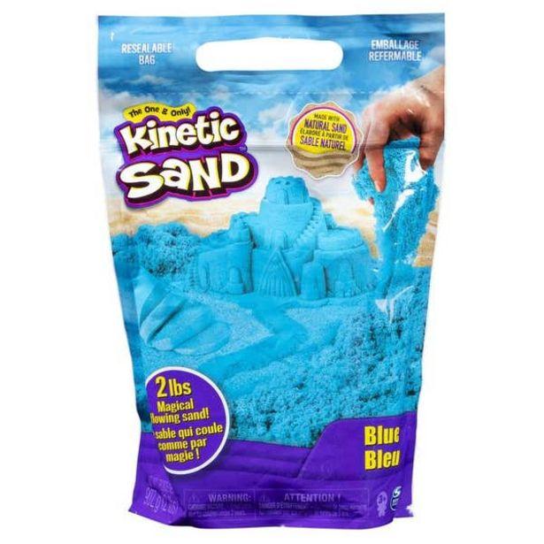 Oferta de Kinetic Sand Bolsa De Arena De Color Spin Master Azul 6046035 por $135.6