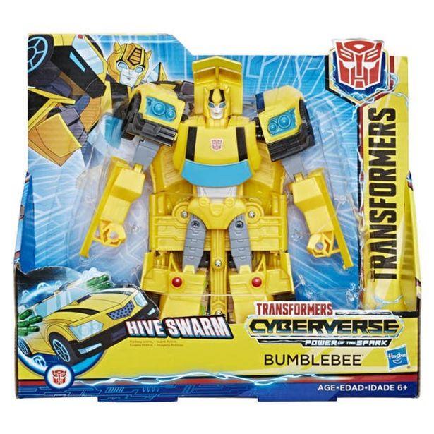 Oferta de Transformers E1907 Figura Cyberverse Ultra Action Attackers Bumblebee por $247.6