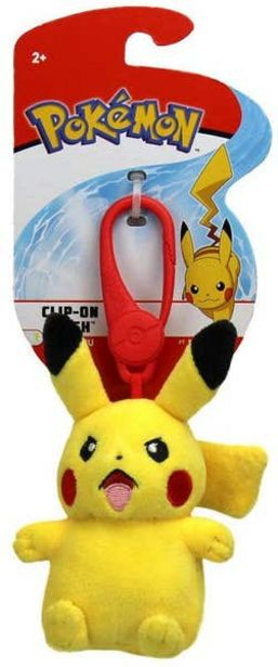 Oferta de Figura Clip-On Plush Pokemon Pikachu por $125.4