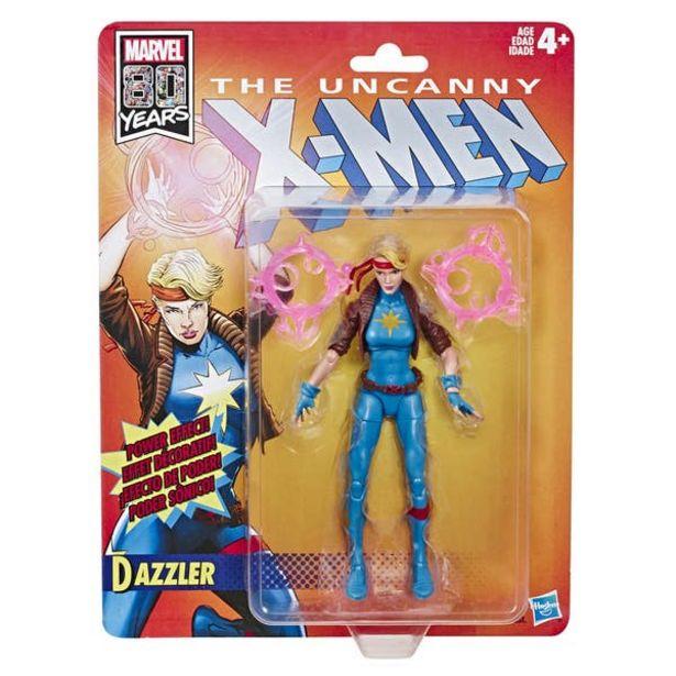 Oferta de MARVEL E6111 Marvel Legends Figura de acción de 6 pulgadas Retro Dazzler Juguete Hasbro por $231.6