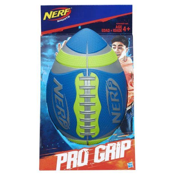 Oferta de Nerf A0358 Nerf Sports - Balón de fútbol americano Pro Grip Color Verde Juguete Hasbro por $369