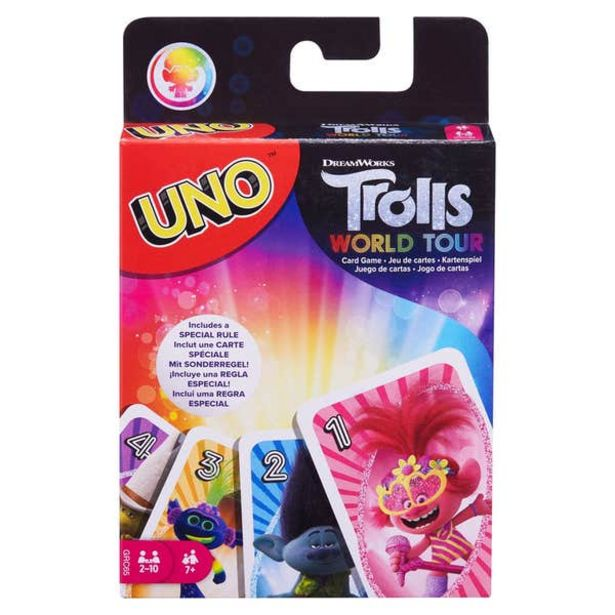 Oferta de UNO Trolls World Tour Juego de cartas por $41.7