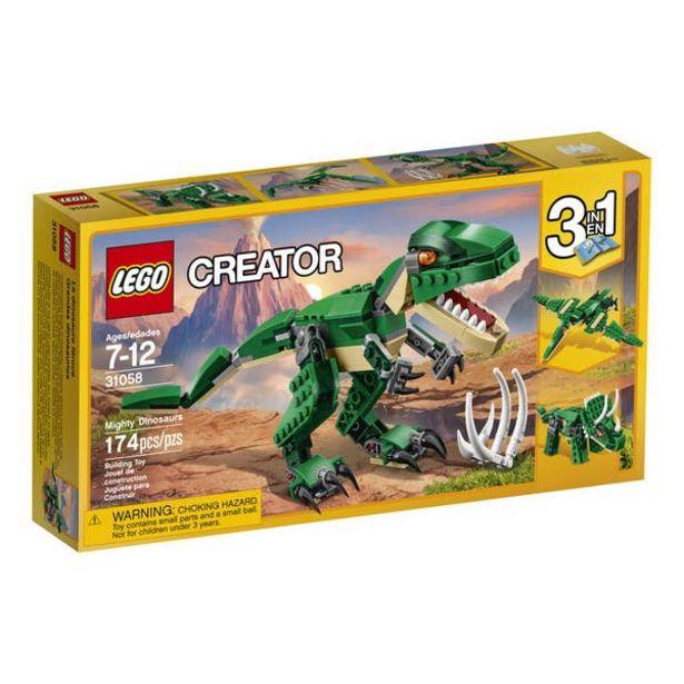 Oferta de LEGO Creator Grandes Dinosaurios 31058 por $239.2