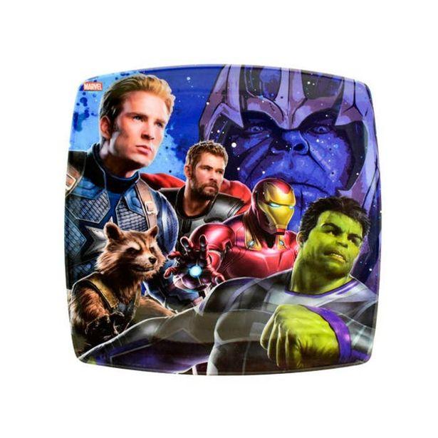 Oferta de Plato Cuadrado Avengers Infinity War II por $49