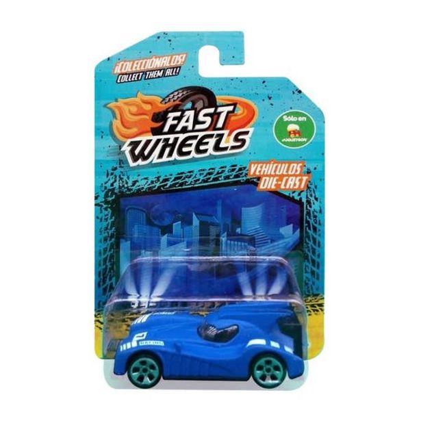 Oferta de Fast Wheels Coche Basico Azul por $17.5