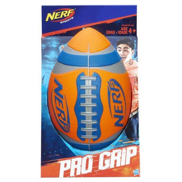 Oferta de Nerf A0359 Nerf Sports - Balón de fútbol americano Pro Grip Color Naranja Juguete Hasbro por $369