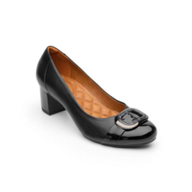 Oferta de Zapato De Tacón Para Oficina Flexi Con Hebilla Xl Para Mujer - Estilo 47409 Negro por $424.5