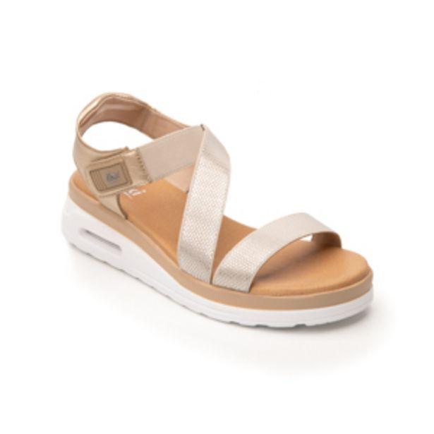 Oferta de Sandalia Casual Flexi para Mujer con Capsula Air Sandal Estilo 106501 Oro por $594.3