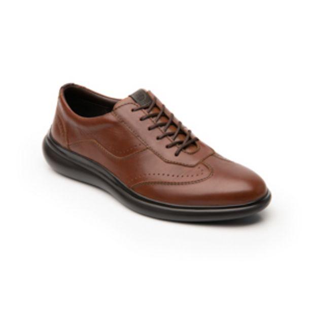 Oferta de Zapato Oxford Flexi para Hombre con Sistema Flowtek Estilo 404902 Tan por $734.3