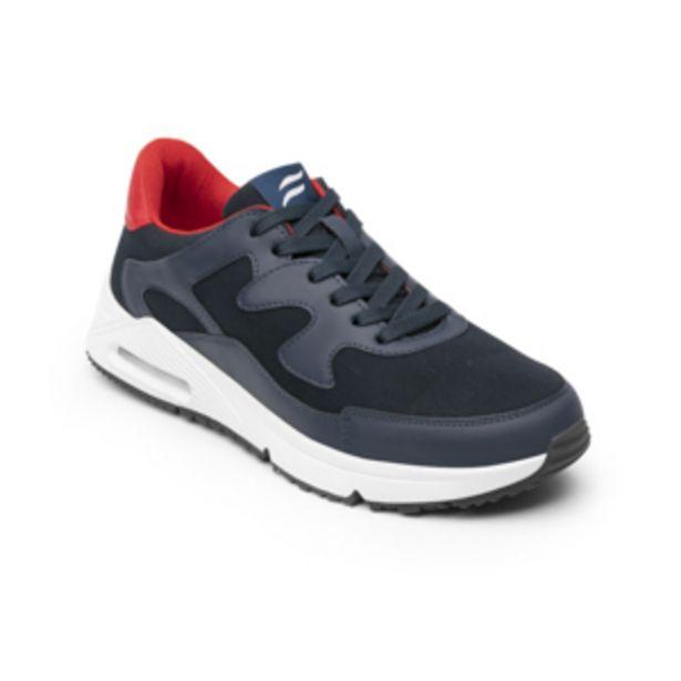 Oferta de Sneaker Urbano Flexi para Mujer con Cápusla de Aire Estilo 109101 Azul Rojo por $999