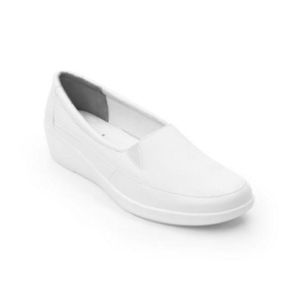 Oferta de Loafer Con Elásticos Flexi para Mujer con Plantilla Comfort Pad  Estilo 45607 Blanco por $623.2